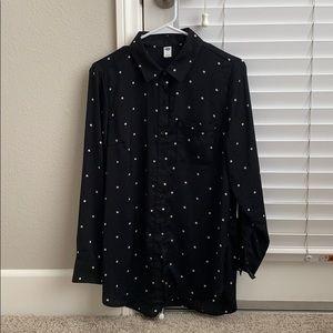 Old Navy Silk Shirt S